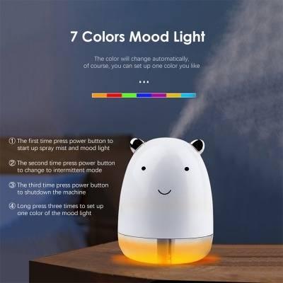 7 Colors Led Cute Bear Air Humidifier