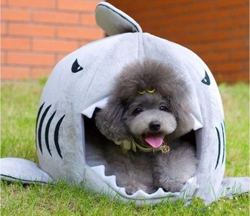 Winter Warm Shark Pet House