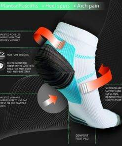 Unisex Compression And Plantar Fasciitis Socks