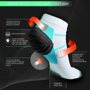 Unisex Plantar Fasciitis Sock, Compression Socks