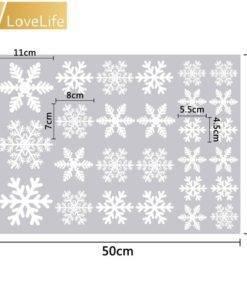 Christmas Frozen Snow Flakes Wall Sticker Set 27pcs
