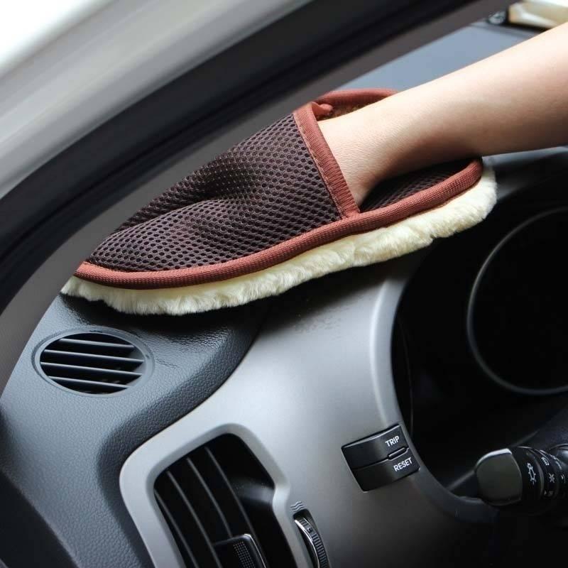 Car Care Cleaning Brushes Polishing Mitt
