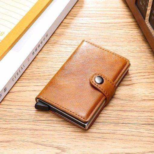 Leather Slim Money Clip And Cardholder