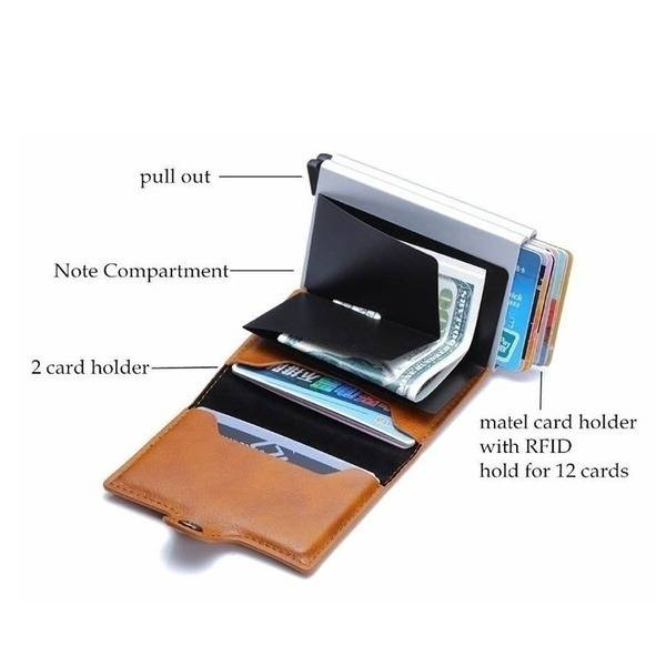 Leather Slim Money Clip And Card Holder