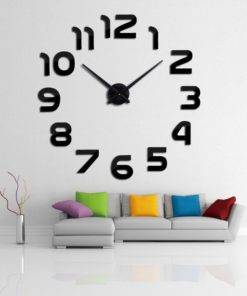 Diy Modern Design Big 3D Wall Clock