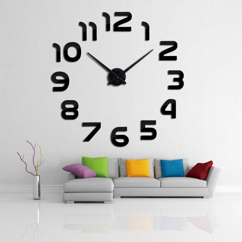 3D Modern  Wall Clock Home