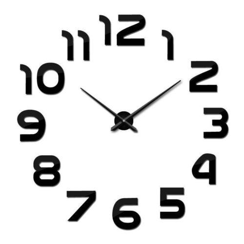 Diy Modern Design Big 3D Wall Clock