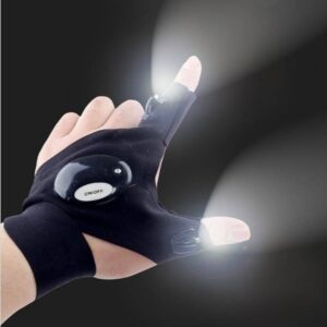 Night Running Gloves with Lights