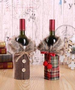 Santa Claus Christmas Wine Bottle Bag