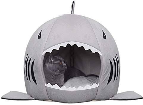 Warm Shark Shaped Pet House