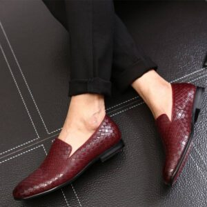 Leather Flat Casual Italian Shoes for Men