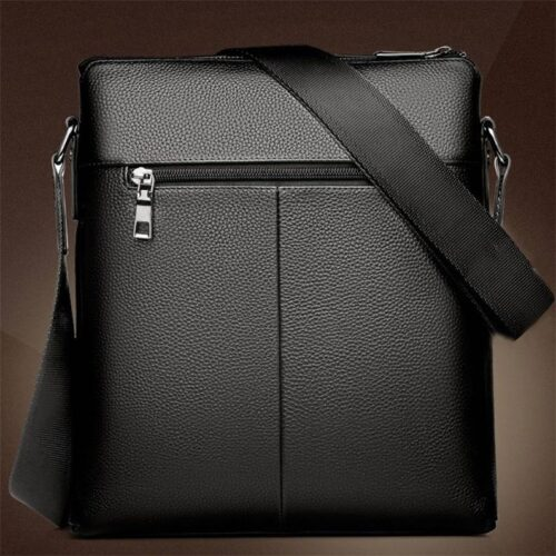 Men Shoulder Leather Bag Vacation Travel Work Bag