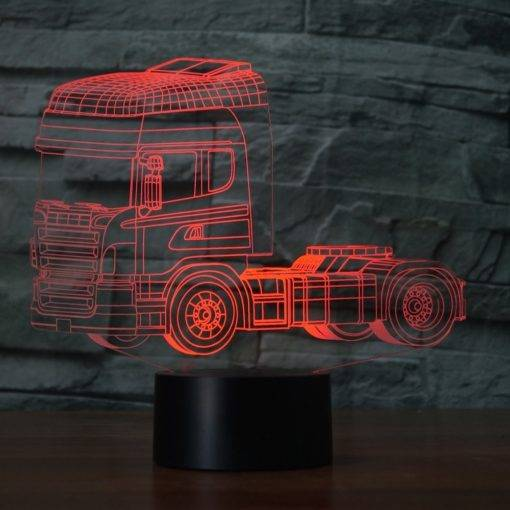 3D Illusion Color Changing Night Lamp