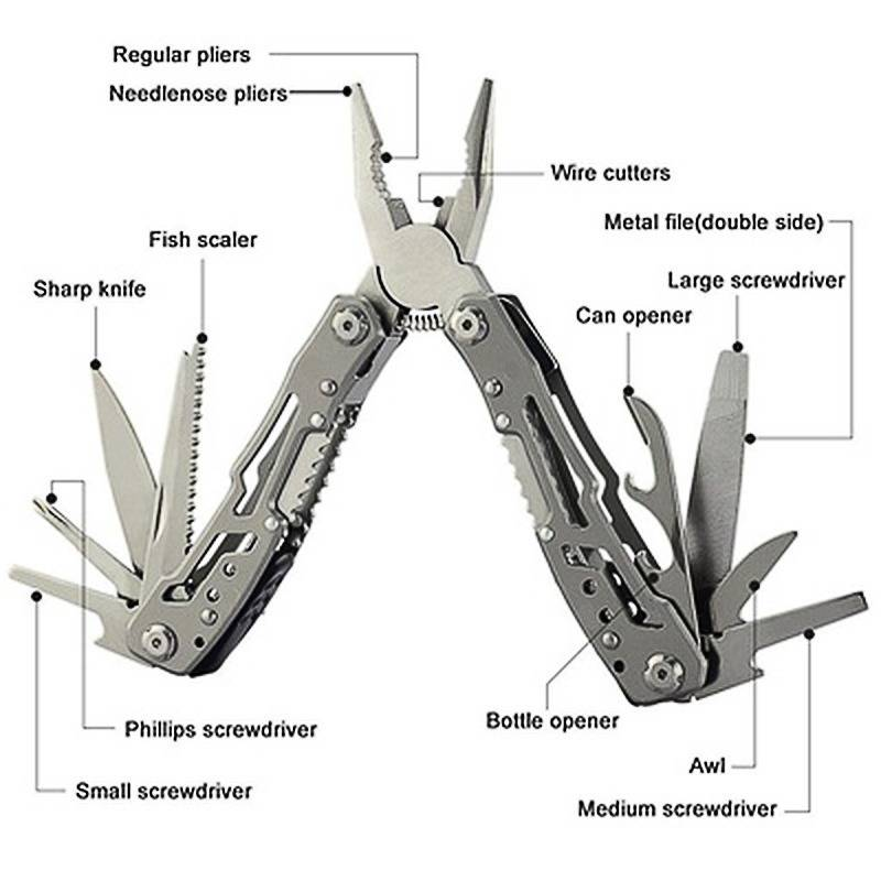 15 IN 1 Stainless Steel Outdoor Tool Pliers