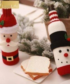 5b99d4d9887a5e6dccf86aeb 2 larg Wine Bottle Cover Santa Snowman