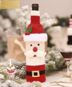 5b99d4d9887a5e6dccf86aeb 3 larg Wine Bottle Cover Santa Snowman