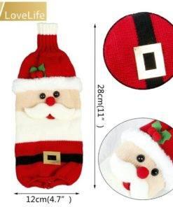 5b99d4d9887a5e6dccf86aeb 4 larg Wine Bottle Cover Santa Snowman