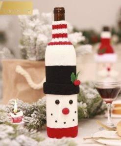 5b99d4d9887a5e6dccf86aeb 5 larg Wine Bottle Cover Santa Snowman