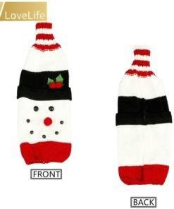 5b99d4d9887a5e6dccf86aeb 6 larg Wine Bottle Cover Santa Snowman