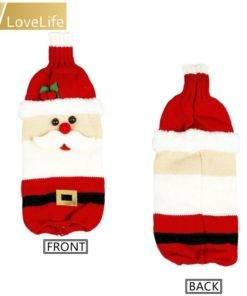 5b99d4d9887a5e6dccf86aeb 7 larg Wine Bottle Cover Santa Snowman