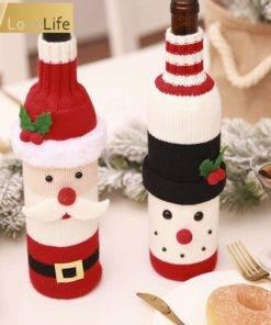 5b99d4d9887a5e6dccf86aeb 8 larg Wine Bottle Cover Santa Snowman