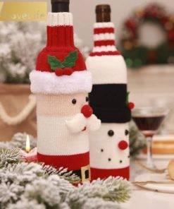 5b99d4d9887a5e6dccf86aeb 9 larg Wine Bottle Cover Santa Snowman