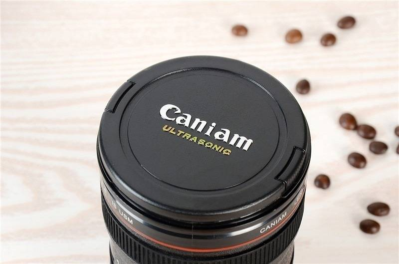 Black Camera Lens Beer Mug