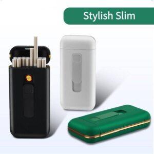 Stylish Cigarette Case with USB Electriv Lighter