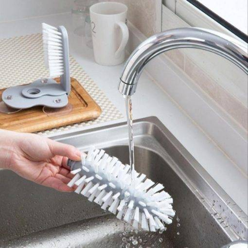 Suction Cup Brush Glass Cup Cleaner