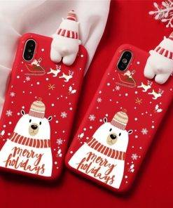 5d68baaca7fece337947358a 2 larg 3D Christmas Ornaments Deer Bear Phone Cover