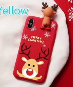 5d68baaca7fece337947358a 4 larg 3D Christmas Ornaments Deer Bear Phone Cover