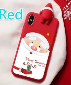 5d68baaca7fece337947358a 5 larg 3D Christmas Ornaments Deer Bear Phone Cover