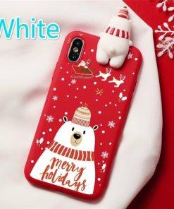 5d68baaca7fece337947358a 6 larg 3D Christmas Ornaments Deer Bear Phone Cover