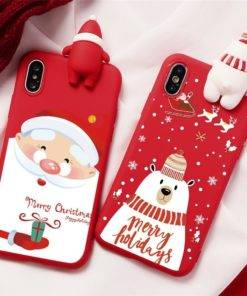 5d68baaca7fece337947358a 9 larg 3D Christmas Ornaments Deer Bear Phone Cover