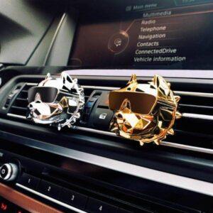 Cool Bulldog Car Air Freshener Car Gadgets Cool Gadgets size: 24 k gold|Bright black|Bright silver|Brilliant red|Matte black|Rose gold