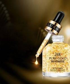 24K Gold Six Peptide Face Care Eye Cream Anti Wrinkle Remove Dark Circles Moisturizing Hydrating Whitening 4 24K Gold Six Peptide Face Care - Anti Wrinkle Eye Cream