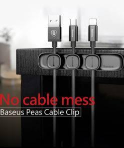 Baseus Magnetic Cable Organizer USB Cable Management Winder Clip Desktop Workstation Wire Cord Protector Cable Holder 1 Magnetic Cable Organizer Winder Clip Desktop