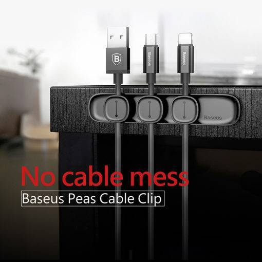 Magnetic Cable Organizer Winder Clip Desktop