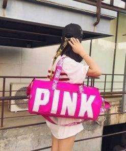 SNUGUG Outdoor Woman Gym Bag New Gym Bag Men Nylon Pink Sports Bags For Fitness Women 5 Gym Handbag - Shoulder Sport Bag