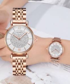 Silver Rose Gold Stainless Steel Bracelet Watch For  Women