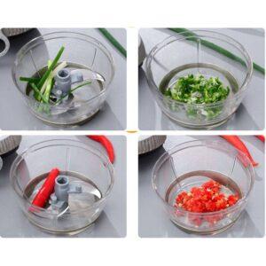 Hand-Drawn Multifunctional Garlic Food Chopper