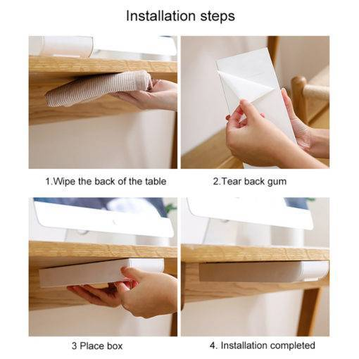 Self-Adhesive Under Desk Drawer