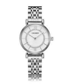 H207e9e1fd39f40b883001b2c98c73121M Silver Rose Gold Stainless Steel Bracelet Watch For  Women