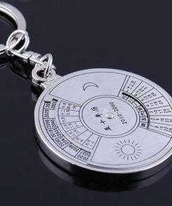 H2220800f7d494bc1a4edb5e07fcd5ed4m Perpetual Calendar Keychain (Silver)