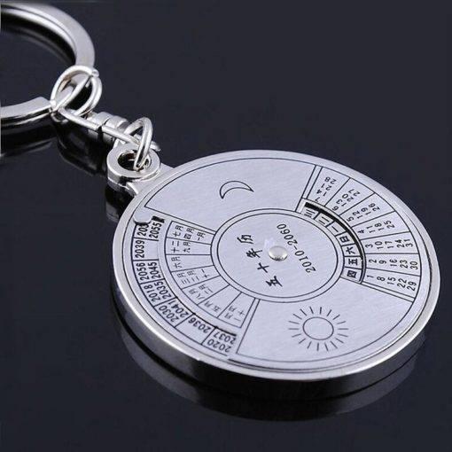 Perpetual Calendar Keychain (Silver)