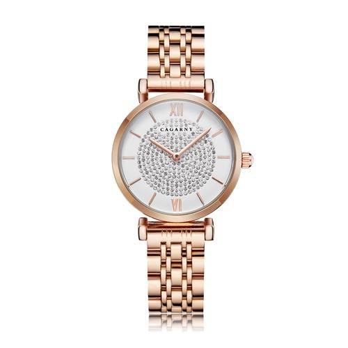 Silver Rose Gold Stainless Steel Bracelet Watch For  Women