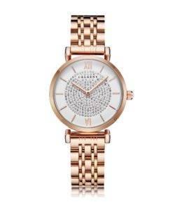 H2d5e0927733c4c3e9db115c08dc0180bh Silver Rose Gold Stainless Steel Bracelet Watch For  Women
