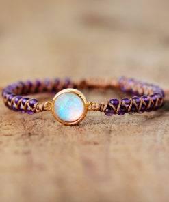 Amethysts Opal String Braided Yoga Friendship Bracelet