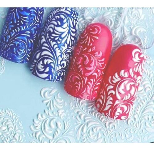 3D Acrylic Art Engraved  Nail Sticker