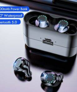Waterproof  Wireless Headphones   – Touch Control Earbuds with Microphone